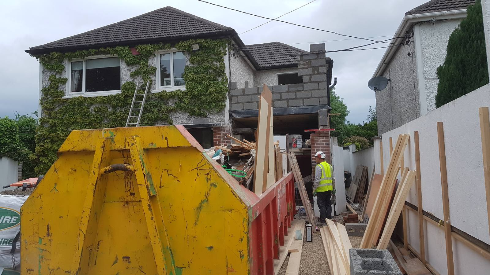 House extension over garage in Dublin 14