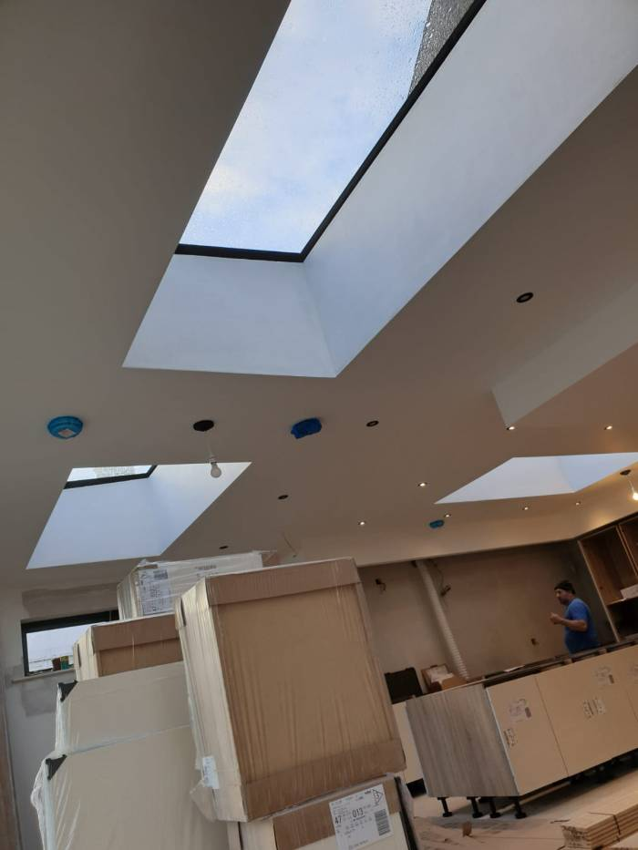 roof windows in a kitchen extension in Dublin 6